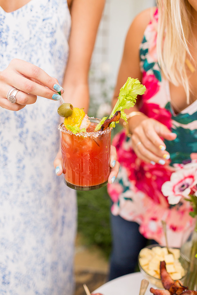 Build your own Bloody Mary bar using these tips on LaurenConrad.com