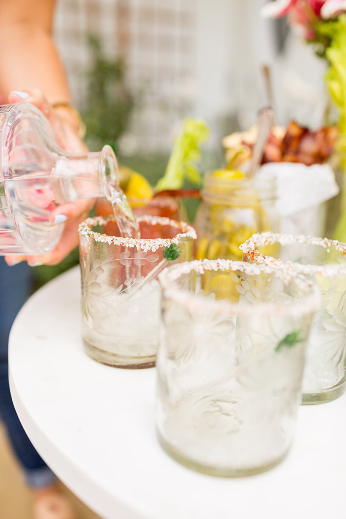 Bloody Mary bar on LaurenConrad.com