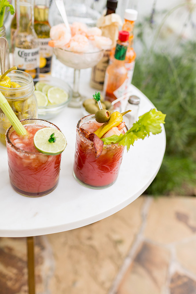 Summer Bloody Mary Bar on LaurenConrad.com