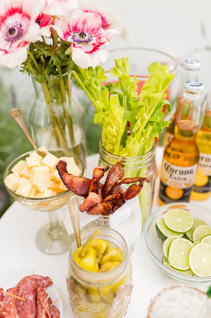 Bloody Mary bar via LaurenConrad.com
