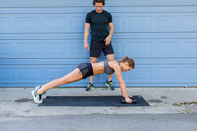 8 Total Body Exercises To Get You Ready For Anything In Life: Push Up to Dumbbell Row