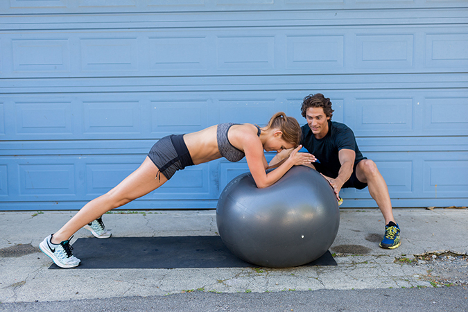 8 Total Body Exercises To Get You Ready For Anything In Life: Stability Ball Pulse Planks