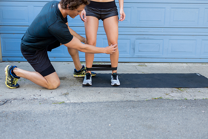 8 Total Body Exercises To Get You Ready For Anything In Life: Mini Band Walks