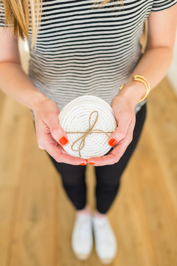 DIY nautical coasters by LaurenConrad.com
