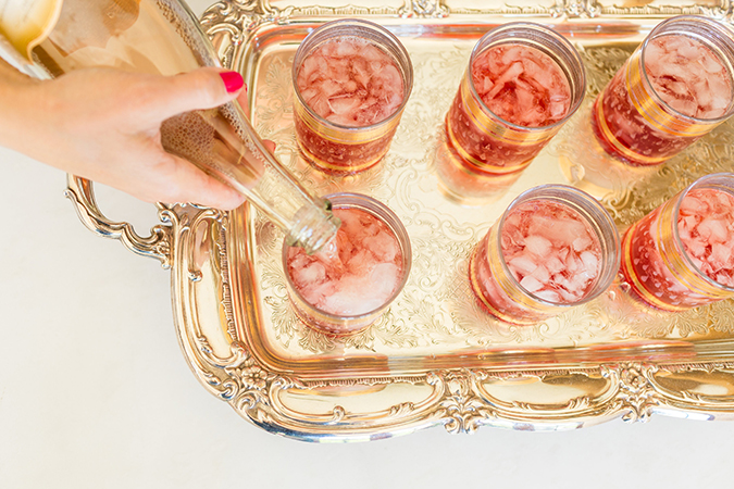 Get the recipe for Lauren Conrad's Blackberry Champagne Garden Cocktails