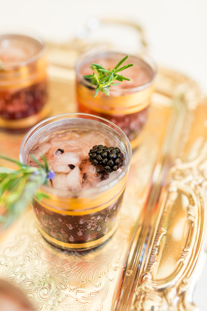 Lauren Conrad's Blackberry Champagne Garden Cocktail Recipe