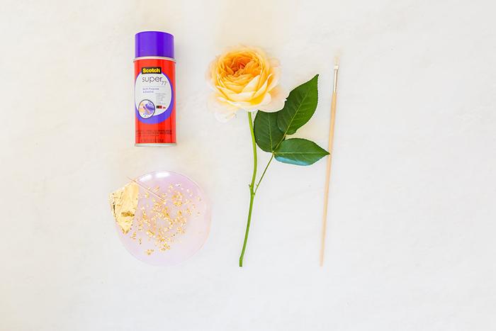 Lauren Conrad's DIY gilded roses
