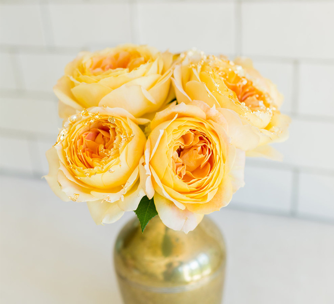 Inspired Idea: DIY Gilded Roses