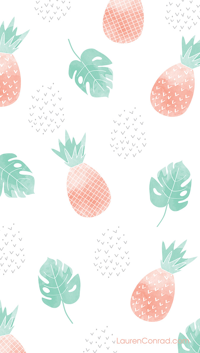 Pineapple Phone Wallpaper On LaurenConrad