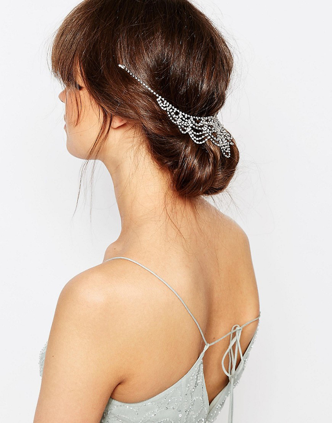 Glam crystal hair drape on LaurenConrad.com