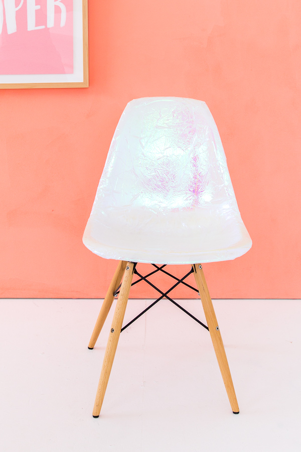 Peek this holographic chair DIY and the rest of Lauren Conrad's Friday Favorites