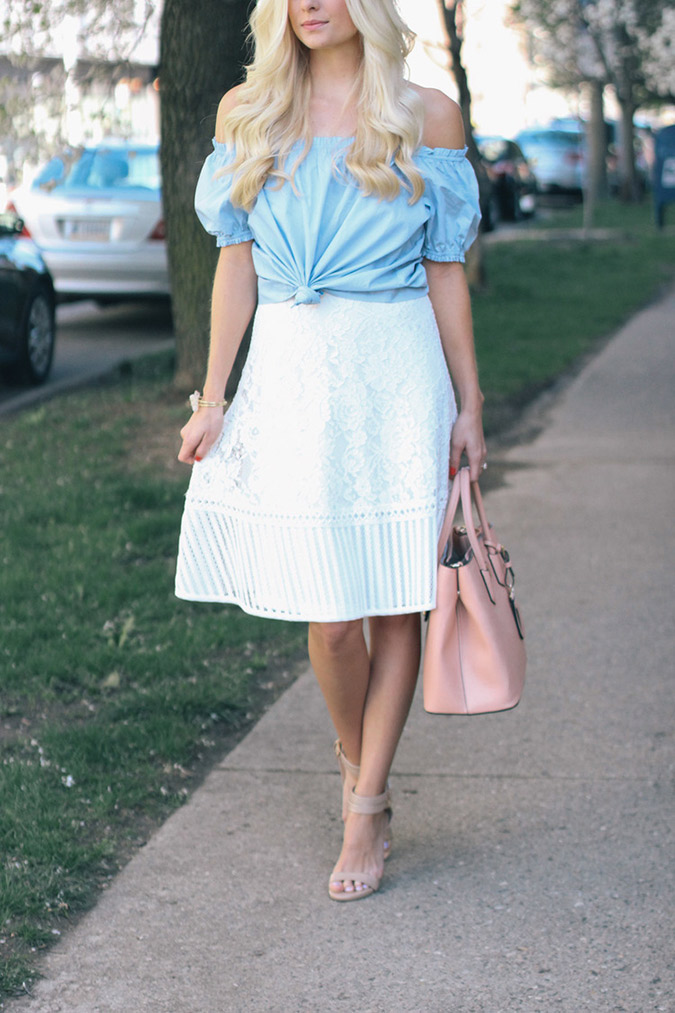See our Chic's perfect midi skirt and get the look on LaurenConrad.com