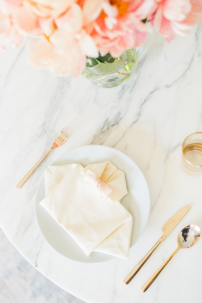 Father's Day folded napkins on LaurenConrad.com