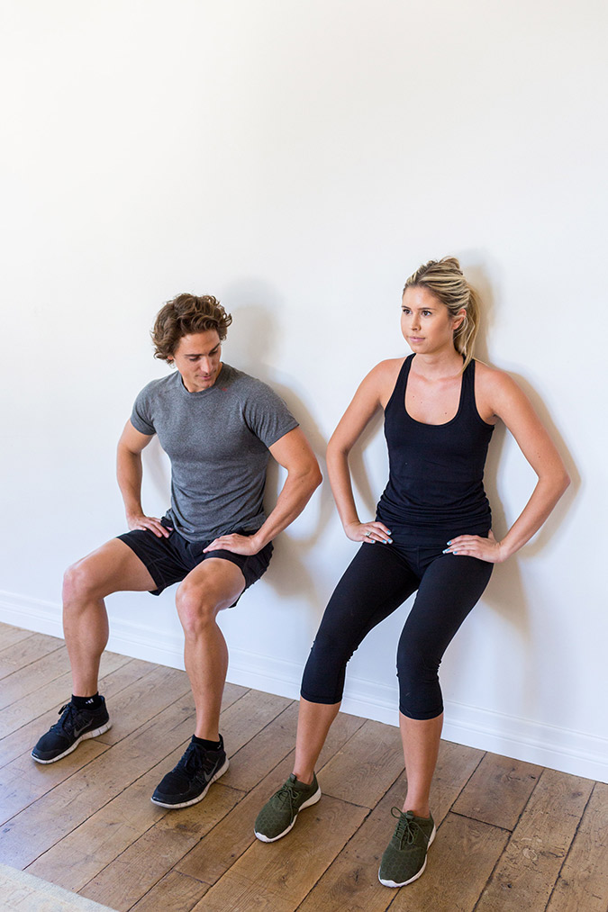 Hotel Room Workout: Wall Sits