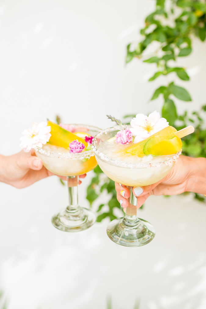 Homemade margarita poptails on LaurenConrad.com