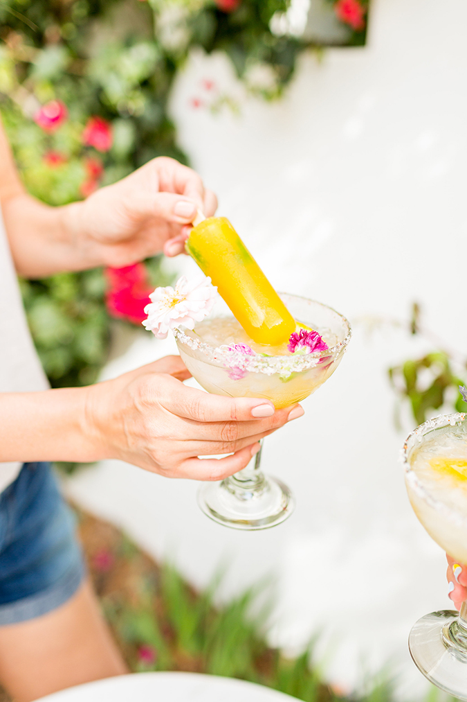 Spicy Mango Margarita Poptail recipe on LaurenConrad.com