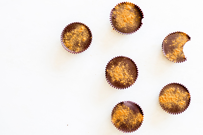 Healthy alternative almond butter cups on LaurenConrad.com