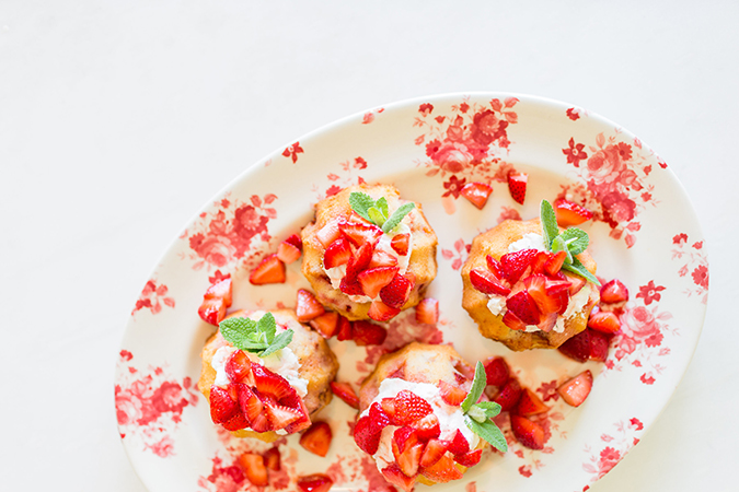 Mini strawberry shortcakes recipe perfect for the Fourth of July