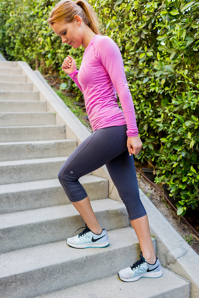 Sidestep up those stairs for a killer leg workout