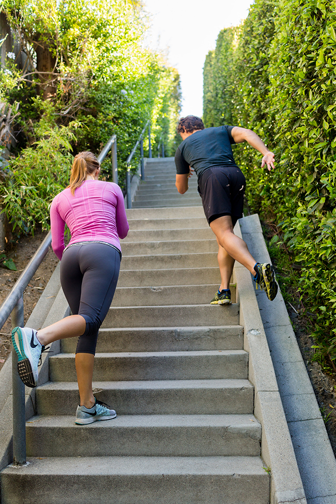 Get killer legs using this stair workout