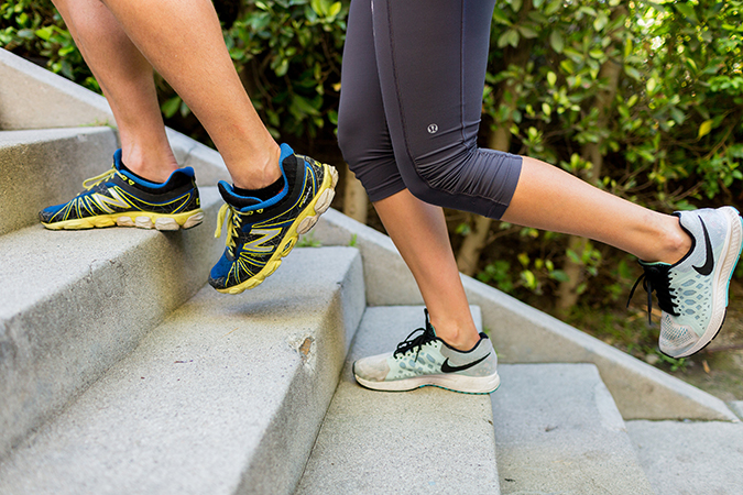 Try this stair workout to tone your legs and work up a sweat