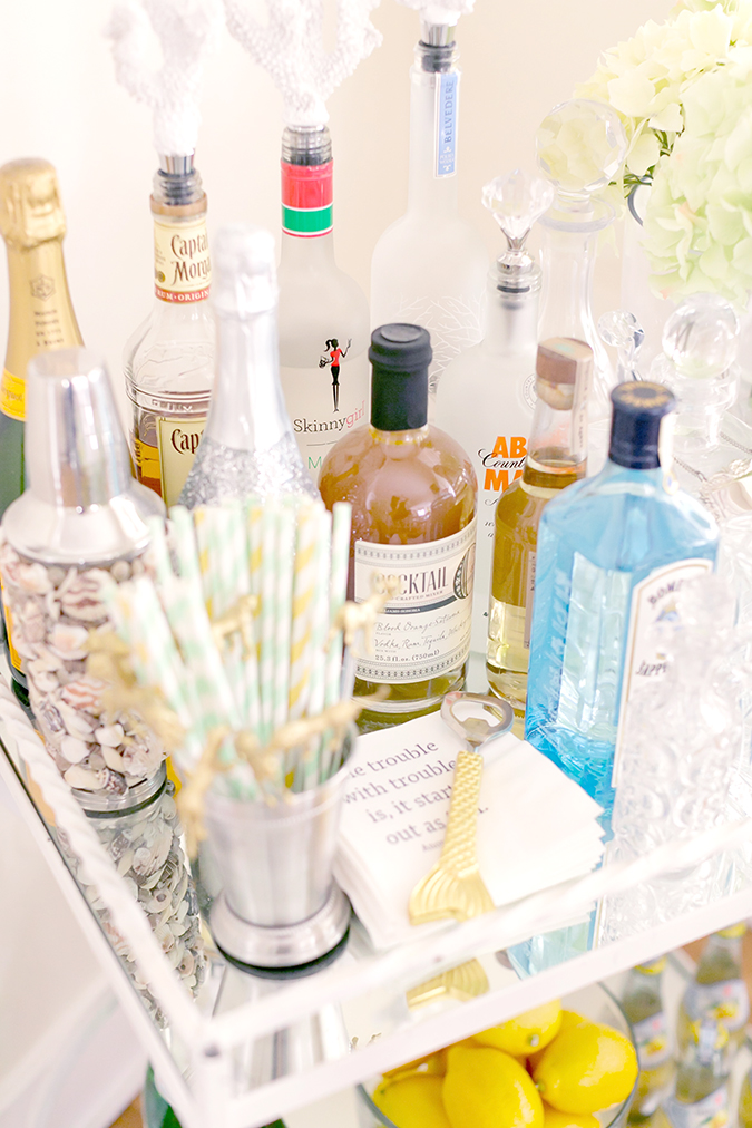 The at-home bar cart checklist for the perfectly curated bar