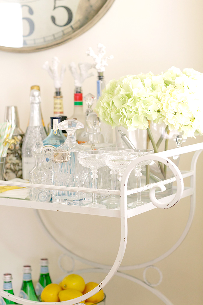 Make sure you've got every detail right on your at-home bar cart
