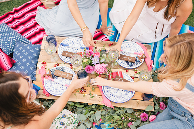 Fourth of July: Pink, White, and Blue themed party