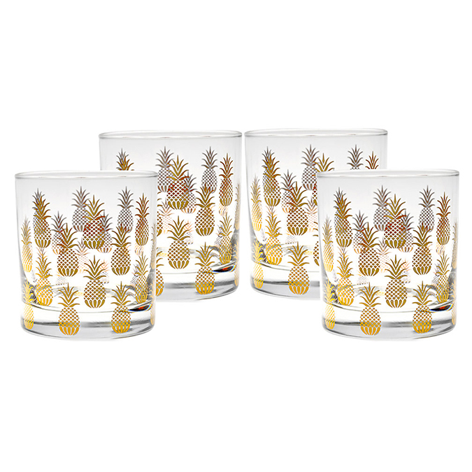 Pineapple glassware, perfect for cold summer sips