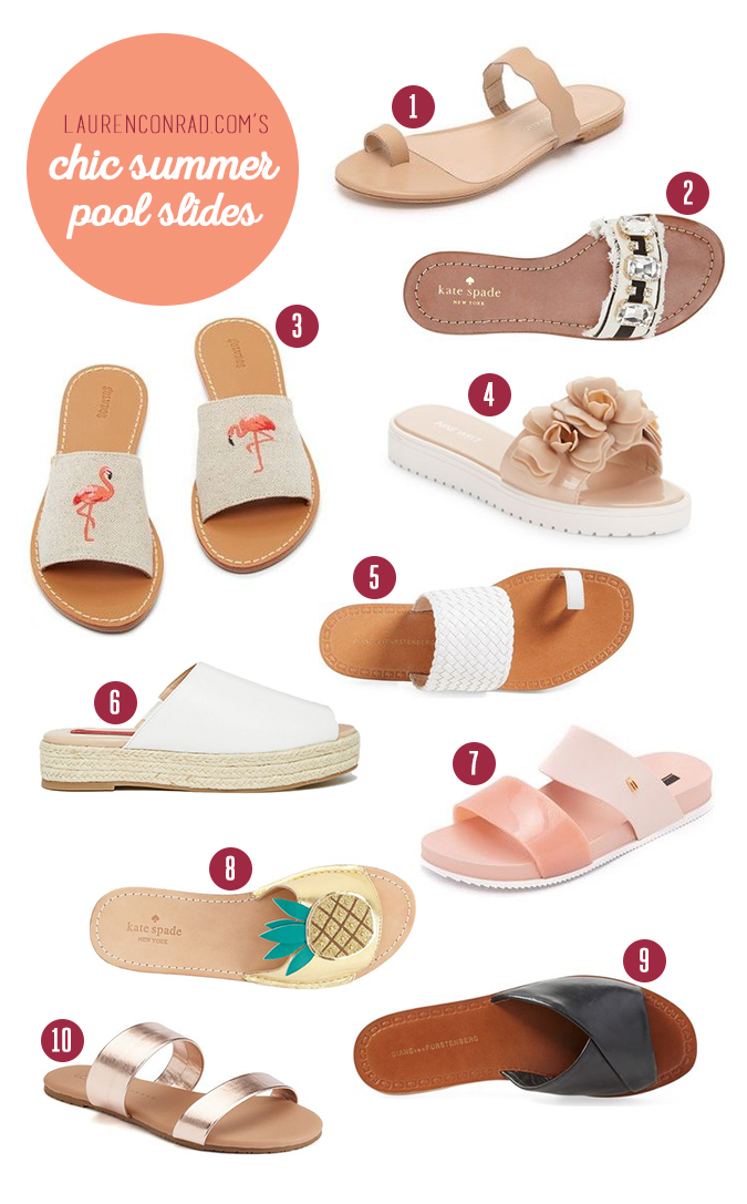 Lauren Conrad's picks for summer slide sandals to get your hands on ASAP