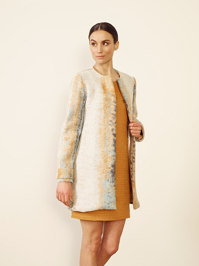 Valencia coat + Singapore dress