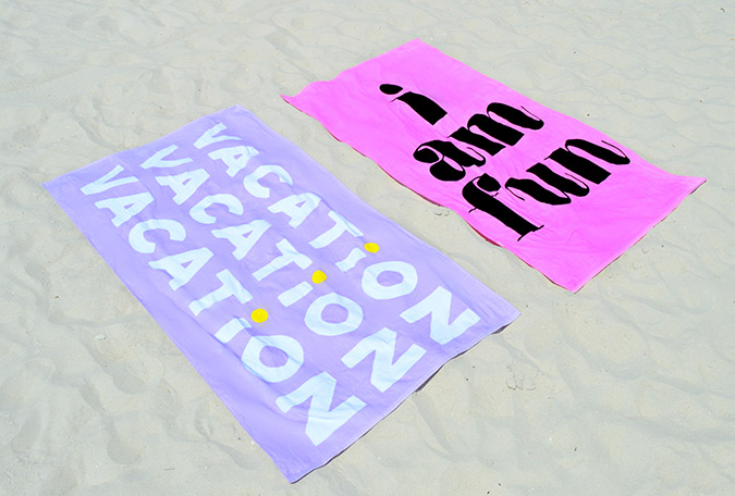oversized beach towels for summer from ban.do