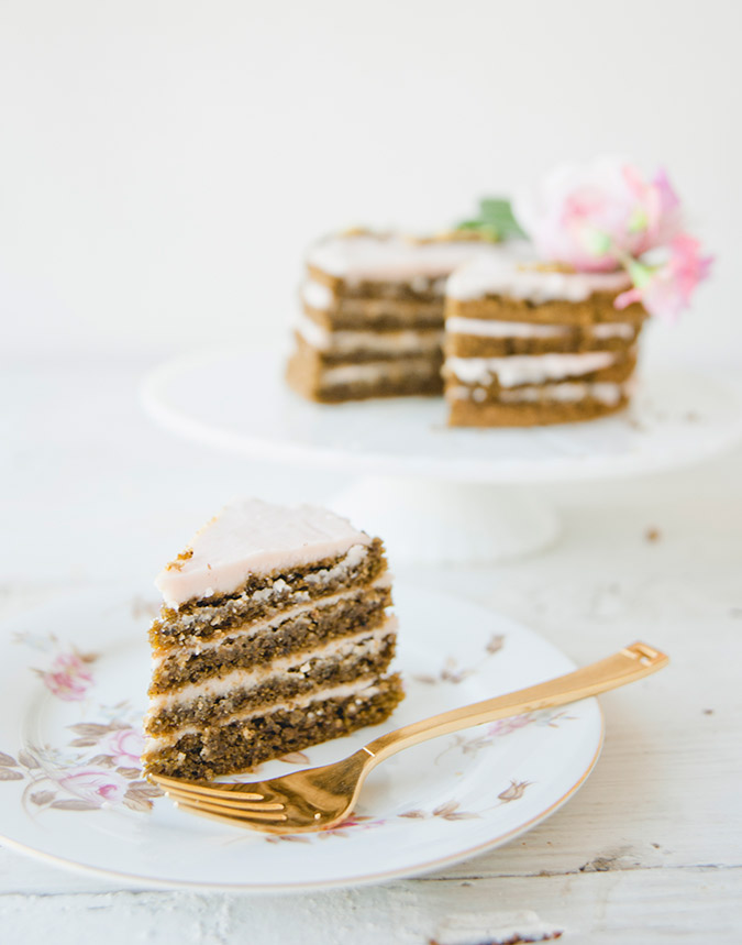 Recipe for Pistachio Rose Cake via Sweet Laurel
