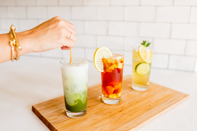 get the recipe for these three summery iced teas