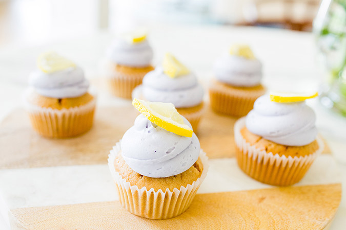 Learn how to make these deliciously pretty Lavender Sweet Tea Cupcakes
