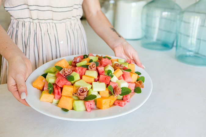 Get the recipe for this summery melon and prosciutto salad
