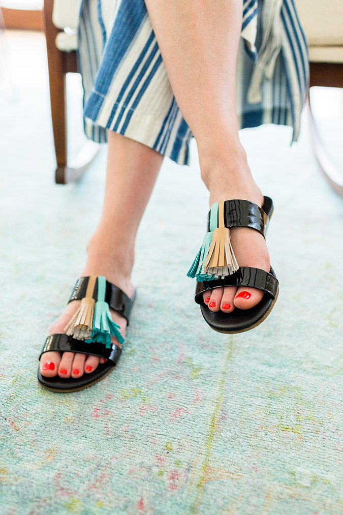 Learn how to make your own tassel sandals