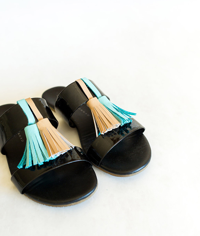 DIY tassel sandals on LC.com