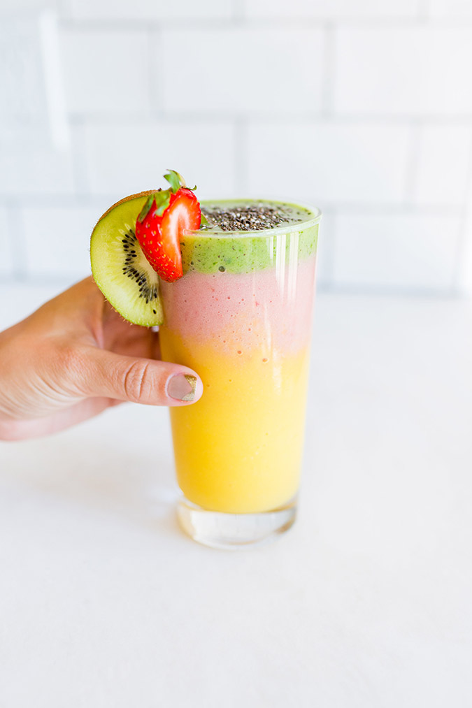 Get the recipe for these refreshing summer smoothies on the blog
