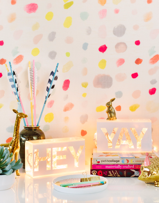 acrylic light box DIY via @ohjoy!