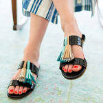 DIY: Tassel Slide Sandals
