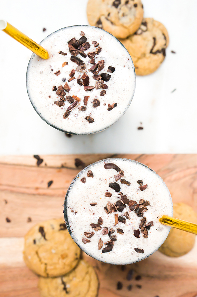 Get the recipe for this healthy cookie dough milkshake on LaurenConrad.com
