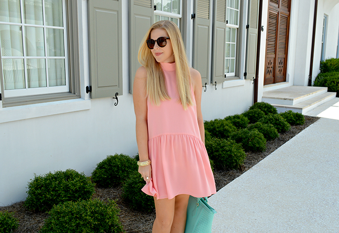 Anna James of Fash Boulevard wearing the perfect summer drop-waist dress
