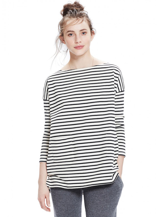 Striped tee maternity style