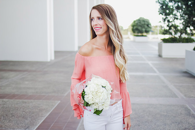 Loving Erin's sweet and breezy pink blouse