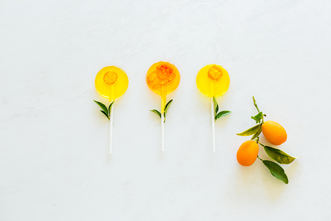 Kumquat lollipops recipe on LaurenConrad.com