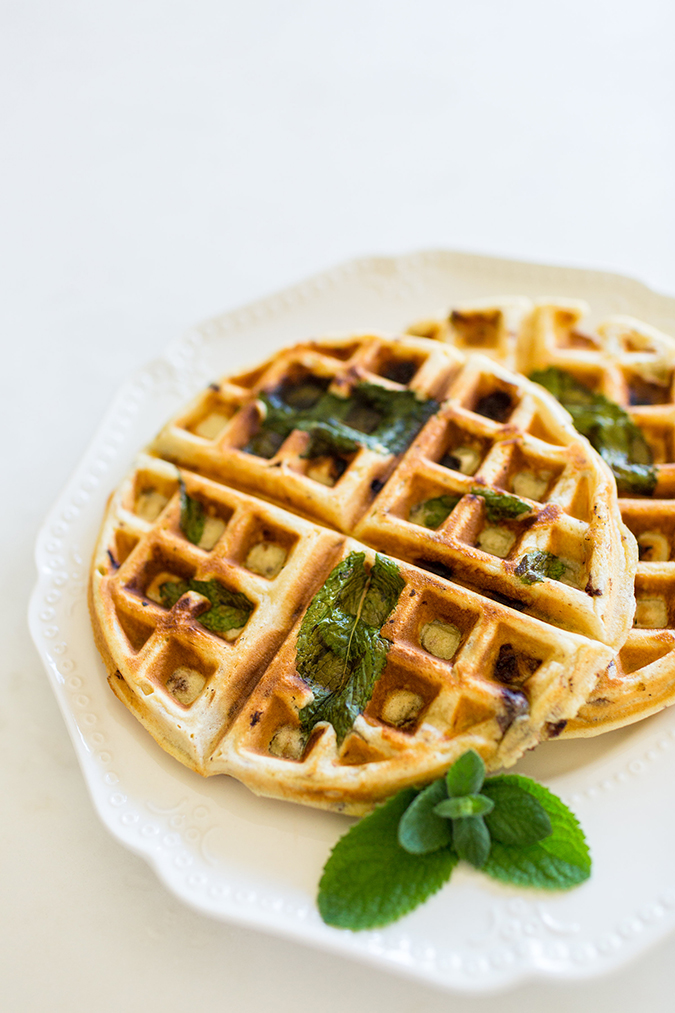 Get the recipe for these mint chip waffles on LaurenConrad.com