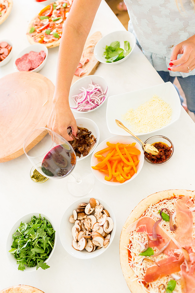 The perfect toppings for a build-your-own pizza party