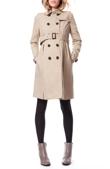 Seraphine Water-resistant maternity trench coat
