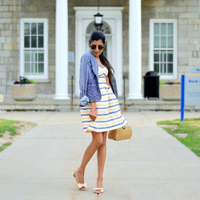 Sushmitha's pretty summer stripes